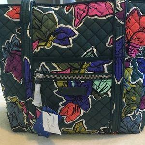 Vera Bradley Iconic Tote Bag Falling Flowers NWT